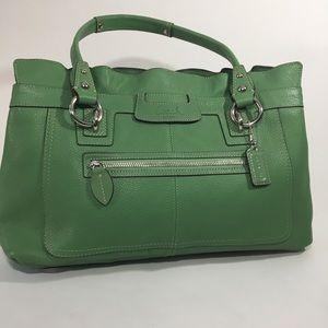 COACH Penelope Pebbled Leather Shopper Handbag